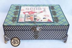 Amazing altered box from Arlene using Good ol' Sport- there's even an album inside! #graphic45