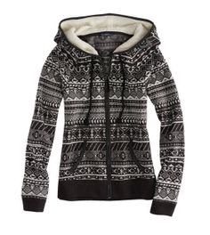 AE Fair Isle Polar Fleece Hoodie