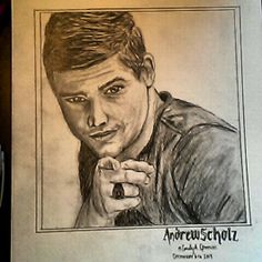 Andrew Scholz of Restless Road. Sketched by me. RRFanArt. Restless Road Fan Art Emily Greeson