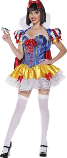 Adult Elegant Lace Snow White Costume - TV, Movie Costumes - Womens Costumes - Halloween Costumes - Categories - Party City