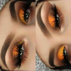 Gorgeous Makeup: Tips and Tricks With Eye Makeup and Eyeshadow – Makeup Design Ideas Makeup Eye Looks, Cute Makeup, Gorgeous Makeup, Pretty Makeup, Skin Makeup, Eyeshadow Makeup, Eyeliner, Makeup Brushes, Yellow Eyeshadow