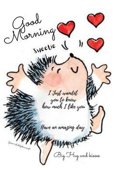 Good Morning Hug, I Like You, Big Hugs, Motivation, Night, Cards, Maps, Love, Playing Cards