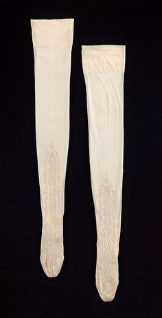 Stockings, 1890s. American. Silk and cotton. 33 in. long. Met Museum.