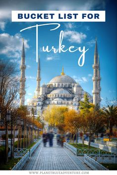 In this ultimate travel guide to Turkey you'll discover what to do in Turkey, top attractions, and so much more. From the Hagia Sophia in Istanbul to Göreme National Park and the Rock Sites of Cappadocia, let us help you plan your holiday in Turkey today. I things to do in Turkey I where to go in Turkey I attractions in Turkey I places to visit in Turkey I Turkey travel guide I Turkey bucket list I Turkey holiday I Turkey vacation ideas I - Planet Blue Adventure #Turkey #travelguide Road Trip Europe, Europe Travel Guide, Asia Travel, Travel Usa, Travel Guides, Travel Destinations, Wanderlust Travel, Best Places To Travel, Cool Places To Visit