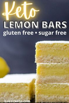 By far the best ever keto lemon bars! Love these so much because they're tangy, fresh, and they come out perfect. Plus they're easy and low carb.