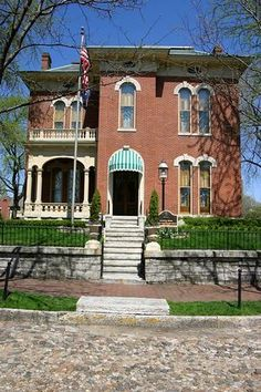 James Whitcomb Riley home, Lockerbie Square east side of downtown Indianapolis.