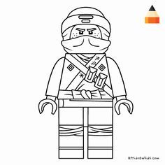 Jay Ninjago Coloring Page Fresh Learn How To Draw Lego Jay Walker Step By Step From The Lego Ninjago Movie In 2020 Lego Ninjago Lego Kleurplaten