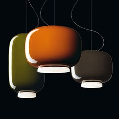 """Couchin"" pendant lights are inspired by traditional Asian lanterns. © foscarini"