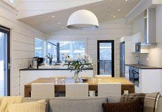 Sisustusblogi Beach Villa, Home Interior Design, Architecture Design, Sweet Home, Cottage, Kitchen, Table, Nice Things, House