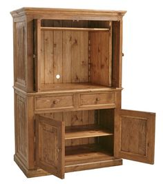 Reclaimed Wood Distressed Entertainment Center