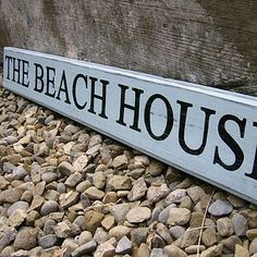 Personalised House Name Sign For My Writing House Pour Ma Cabane - Beach house name ideas