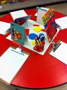 J'explore en atelier les formes géométriques.