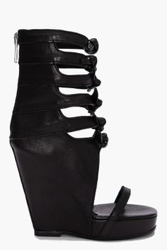 rick owens multistrap open wedges