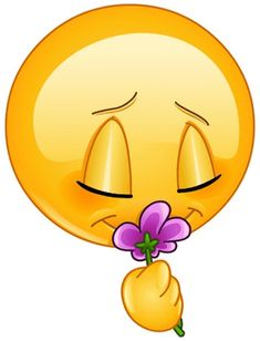 Clipart Image of a Smiley Face Smelling a Flower Smiley Emoji, Smiley Emoticon, All Emoji, Emoticon Faces, Emoji Love, Smiley Faces, Emoji Pictures, Emoji Images, Whatsapp Smiley