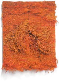 "Magdalena Abakanowicz,   Le Desert Rouge sisal 55"" x 43"" x 5"", 1984"