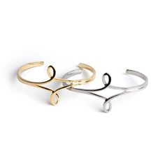 Avinas Jewelry Collection 2014 - Original cuff silver and yellow gold plated - Elegant and modern bracelet