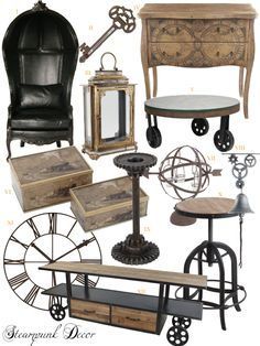 Looking inspiration about steampunk bedroom ideas for your home? There are many steampunk wall decor for your bedroom to be set to steampunk themed Decor, Steampunk Bedroom, Vintage Industrial Decor, Punk Decor, Home Decor, Steampunk Home Decor, Interior Design, Steampunk Furniture, Vintage Industrial Furniture