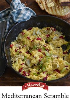 Wake up to flavor with this Mediterranean Scramble. Eat alone or top toast with it, nothing says good morning like a hearty breakfast. Learn how to whip this up for your family.