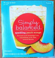 Read our review of Simply Balanced Sparkling Peach Mango Juice Beverage.