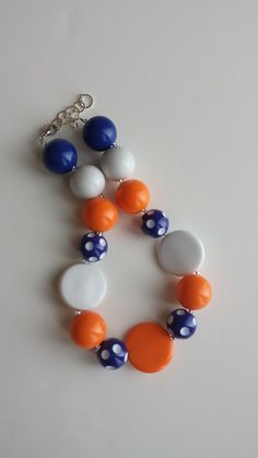 Chunky Beaded Necklace by GicksAndKiggles on Etsy, $18.00