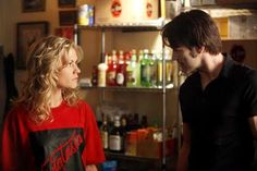 """Sookie Stackhouse with Bill after the """"doctor"""" healed her"""