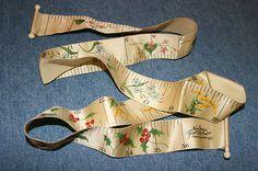 Rare Antique Ivory Silk Tape Measure w/Four Season Floral Designs; Circa 1897