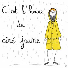 It's Raining, Positive Attitude, Positivity, Illustrations, Mood, French, Character, Thoughts, In The Rain