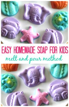 Homemade soap is fun