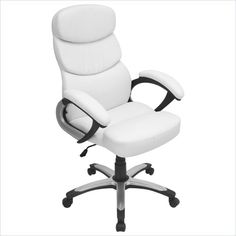 Lumisource - Lumisource Doctorate Office Chair in White - White