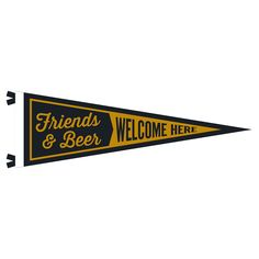 Seltzer Friends and Beer Pennant