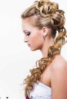 wedding hairstyles for long hair   Wedding hairstyle long elegant