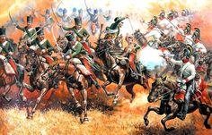 1809 07-06 Wagram, 7eme Hussards vs Kürassiers - Aleksandr Yezhov