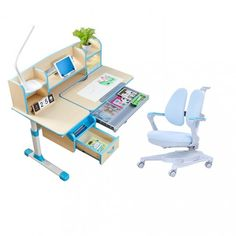Children Kids Ergonomic Study Desk with Adjustable Double-Winged Swive Desk Chair, Swivel Chair, Kids Study Desk, Good Study Habits, Drafting Desk, Your Child, Children, Age, Room