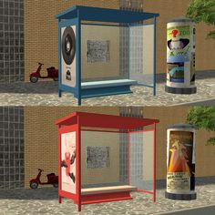 Sims2 - MidCentury Busstop - Downloads - BPS Community