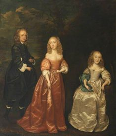 Elizabeth Murray (1626–1698), Countess of Dysart, with Her First Husband, Sir Lionel Tollemache (1624–1669), and Her Sister, Margaret Murray (c.1638–1682), Lady Maynard