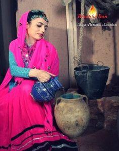 Iranian lady in beautiful Bakhtiari traditional dress