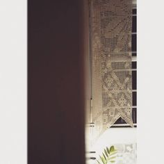 |Night stories|°My beautiful handmade lace curtain is getting wider…Traditional values are big in my life°❤ #nights #handmade #traditional #lacecurtains #handmadelacecurtain #summercurtains...