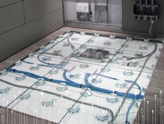 These DIRTT Floor Systems are really innovative allowing for versatility with floor access suitable for power, data, cable management, and other building management technologies as they emerge.