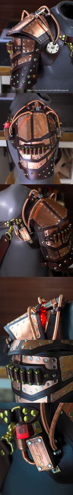 Steampunk, Powered Pauldron by CraftedSteampunk.deviantart.com on @DeviantArt