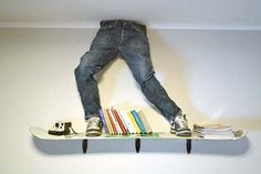 Hang your bike and skateboards on your wall