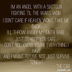 angel with a shotgun the cab lyrics - Google Search
