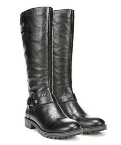 Look what I found on #zulily! Black Tanita Leather Wide-Calf Boot #zulilyfinds