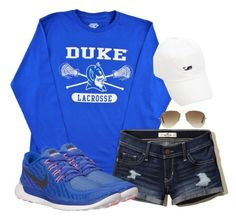 Duke lacrosse. by keileeen on Polyvore featuring NIKE, Ray-Ban and Hollister Co.