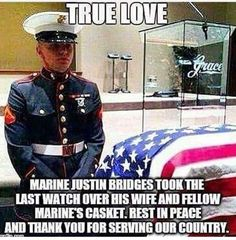 I'm so sorry for his loss This is exactly what I mean when I say there are sacrifices for our freedoms. So give respect & stand for the anthem & that flag. God Bless this troop & his wife & her family. Military Quotes, Military Humor, Military Love, Marine Quotes, Independance Day, Faith In Humanity Restored, Support Our Troops, American Pride, American History