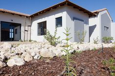 Langebaan Country Estate offers a laid back, leisurely kind of lifestyle to its residents, with many activities within the estate and surroundings. Garden Landscape Design, Garden Landscaping, Grey House Paint, La Haye, Grey Houses, Country Estate, Small Plants, House Painting, Rustic Farmhouse
