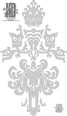 Haunted Mansion Wallpaper to print on cardstock to transfer to strong vellum for wall stencil (Hallway/Walk-in)