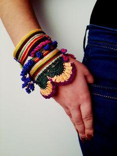 Different Styles of Beaded Bracelets - Turkish Lace - Colorful Beaded Crochet Bracelet and Flower Patterns - Cotton Yarn Bracelet - Special