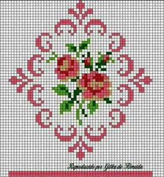 This is a group of floral patterns perfect for embroidery beginners. You get to try out on different embroidery styles for this piece. Cross Stitch Borders, Cross Stitch Rose, Cross Stitch Alphabet, Cross Stitch Flowers, Cross Stitch Charts, Cross Stitch Designs, Cross Stitching, Cross Stitch Patterns, Rose Embroidery