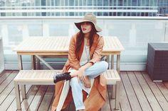 Emu Australia bootie, Breelayne leather duster jacket, Each x Other jeans, Lacausa tunic //