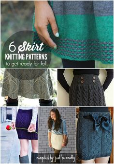 Knitted skirts - fun patterns to try out for fall!